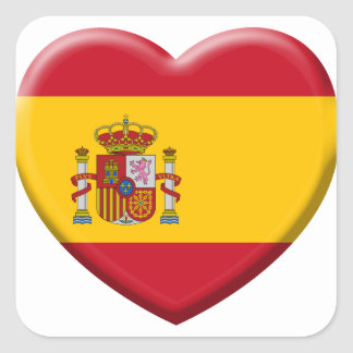 Spain flag square sticker