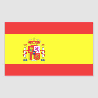 Spain Flag Rectangle Stickers