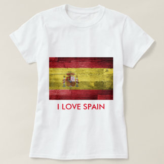 Spain Flag T-shirt Women Cotton Shirt