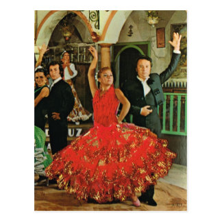 Spain, Flamenco Dancers Postcard