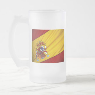 SPAIN FROSTED GLASS BEER MUG