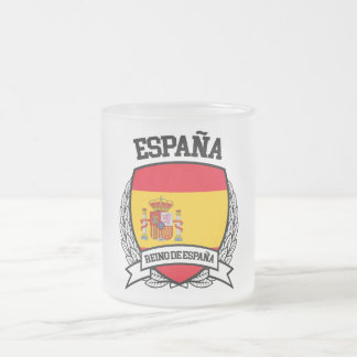 Spain Frosted Glass Coffee Mug