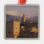 Spain, Granada, Andalucia The Alhambra, 2 Christmas Tree Ornaments