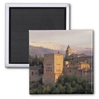 Spain, Granada, Andalucia The Alhambra, Square Magnet