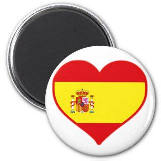 Spain Love 2 Inch Round Magnet