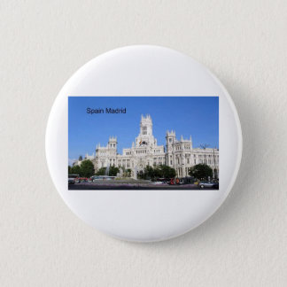 Spain, Madrid City Hall Plaza de Cibeles (St.K) 2 Inch Round Button