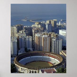 Spain, Malaga, Andalucia View of Plaza de Toros Poster