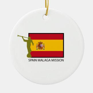 SPAIN MALAGA MISSION LDS CTR CERAMIC ORNAMENT