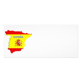 Spain map custom rack card