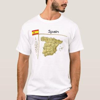 Spain Map + Flag + Title T-Shirt