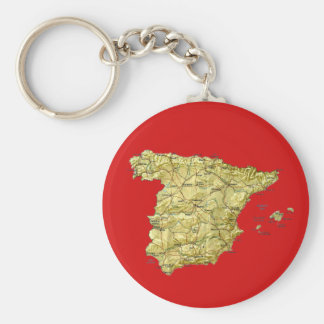 Spain Map Keychain