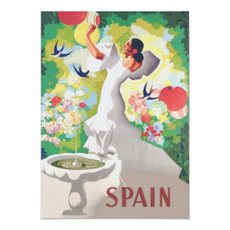 Spain Senorita Birds Flowers Fiesta Garden Card