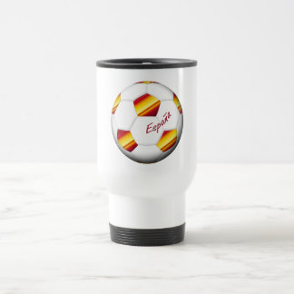 SPAIN SOCCER ball and flag of the national team Travel Mug