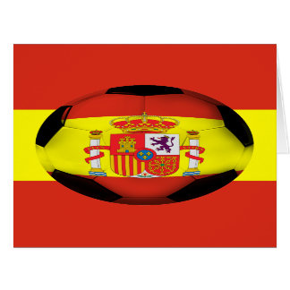Spain Soccer Ball Card