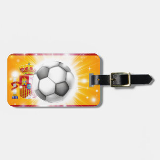Spain soccer flag luggage tag