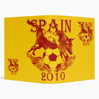 Spain Soccer futbol binder file 2010 gifts