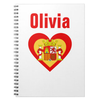 Spain/Spanish flag-inspired Personnalised Notebook