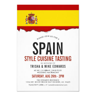 Spain Style Cuisine | Party Flag Invite