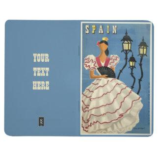 SPAIN Vintage Travel pocket journal