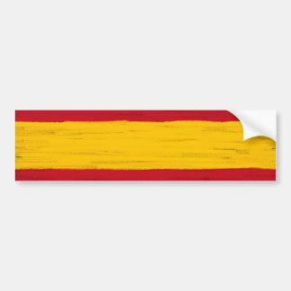 Spain wax pencil sketched flag bumper sticker