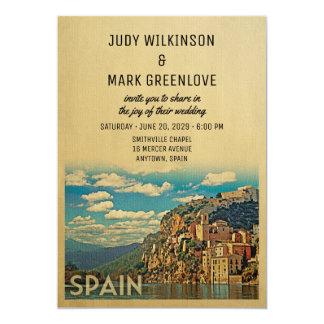 Spain Wedding Invitation Vintage Mid-Century