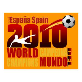 Spain World Champions 2010 España Campeona Del Mun Postcard
