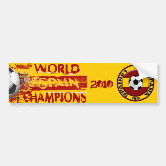 Spain World Champions Grunge 2010 Gift Bumper Sticker