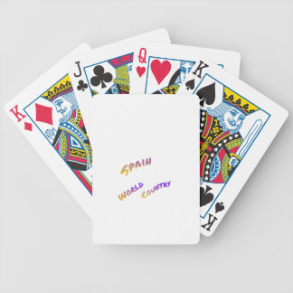 Spain world country, colorful text art poker deck