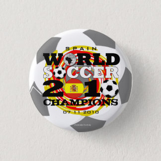 Spain World Cup 2010 Champions Button