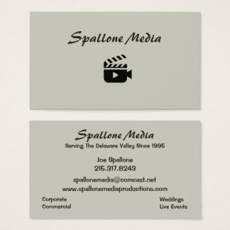 Spallone Media Productions Business Card