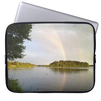 spamset: Rainbows over the Reservoir laptop sleeve
