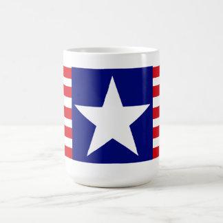 Spangled Banner - American Flag Red White Stripes Basic White Mug