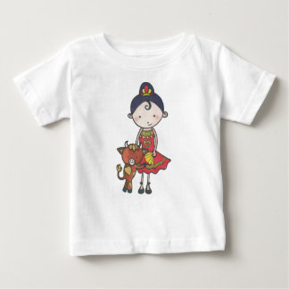 Spanie and castanet the bull calf baby T-Shirt
