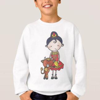 Spanie and castanet the bull calf sweatshirt