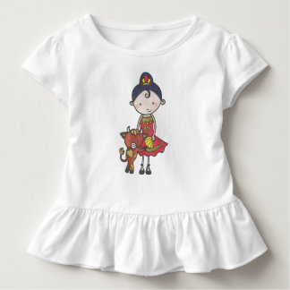 Spanie and castanet the bull calf toddler t-shirt