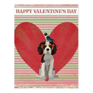 SPANIEL & BIRD VALENTINE'S Postcard