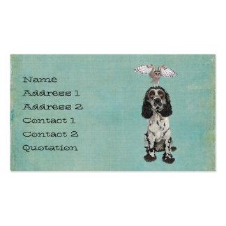 SPANIEL & BLUSH OWL  Business Card