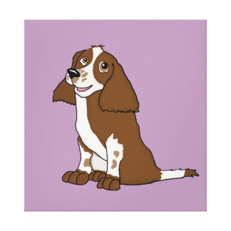 Spaniel cards and paper products canvas prints