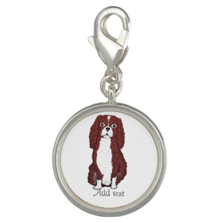 Spaniel Dog Add name, other words clip on charm
