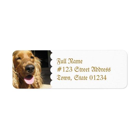 Spaniel Dog Mailing Label
