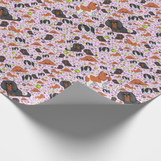 Spaniels in Pink Wrapping Paper
