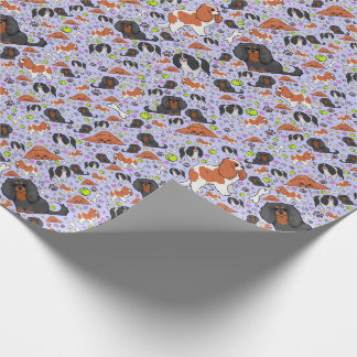 Spaniels in Purple Wrapping Paper