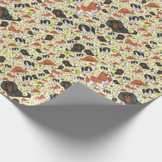 Spaniels in Yellow Wrapping Paper
