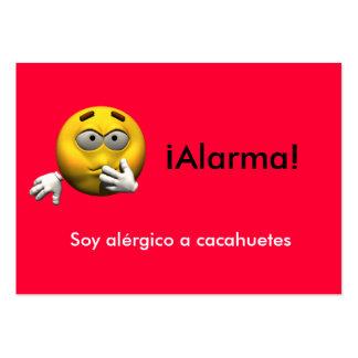 Spanish Allergy Info card - Peanut Business Cards