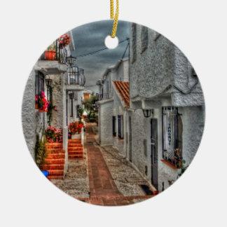 Spanish Alleyway Ceramic Ornament