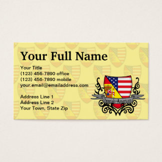 Spanish-American Shield Flag Business Card
