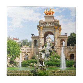 Spanish architecture ceramic tiles
