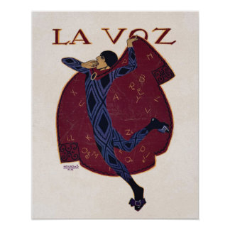 Spanish Art Deco Illustration ~ Artist Penagos Poster
