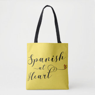 Spanish At Heart Grocery Bag, Spain Tote Bag