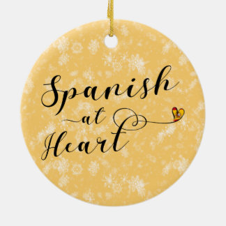 Spanish At Heart Holiday Decoration, Spain Ceramic Ornament
